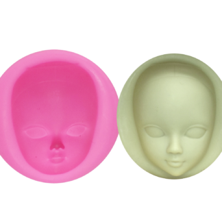 Girl's face cake mould