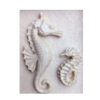 3D Seahorse Silicone Cake Topper Mould